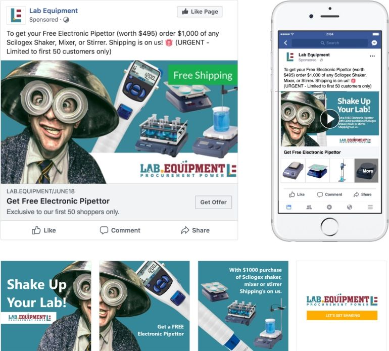 Shake Up Your Lab Promo Facebook Ads