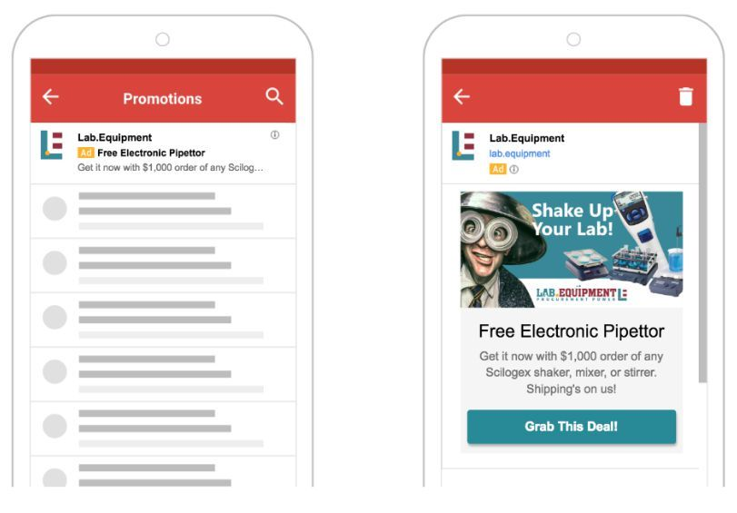 Shake Up Your Lab Promo Gmail Ads