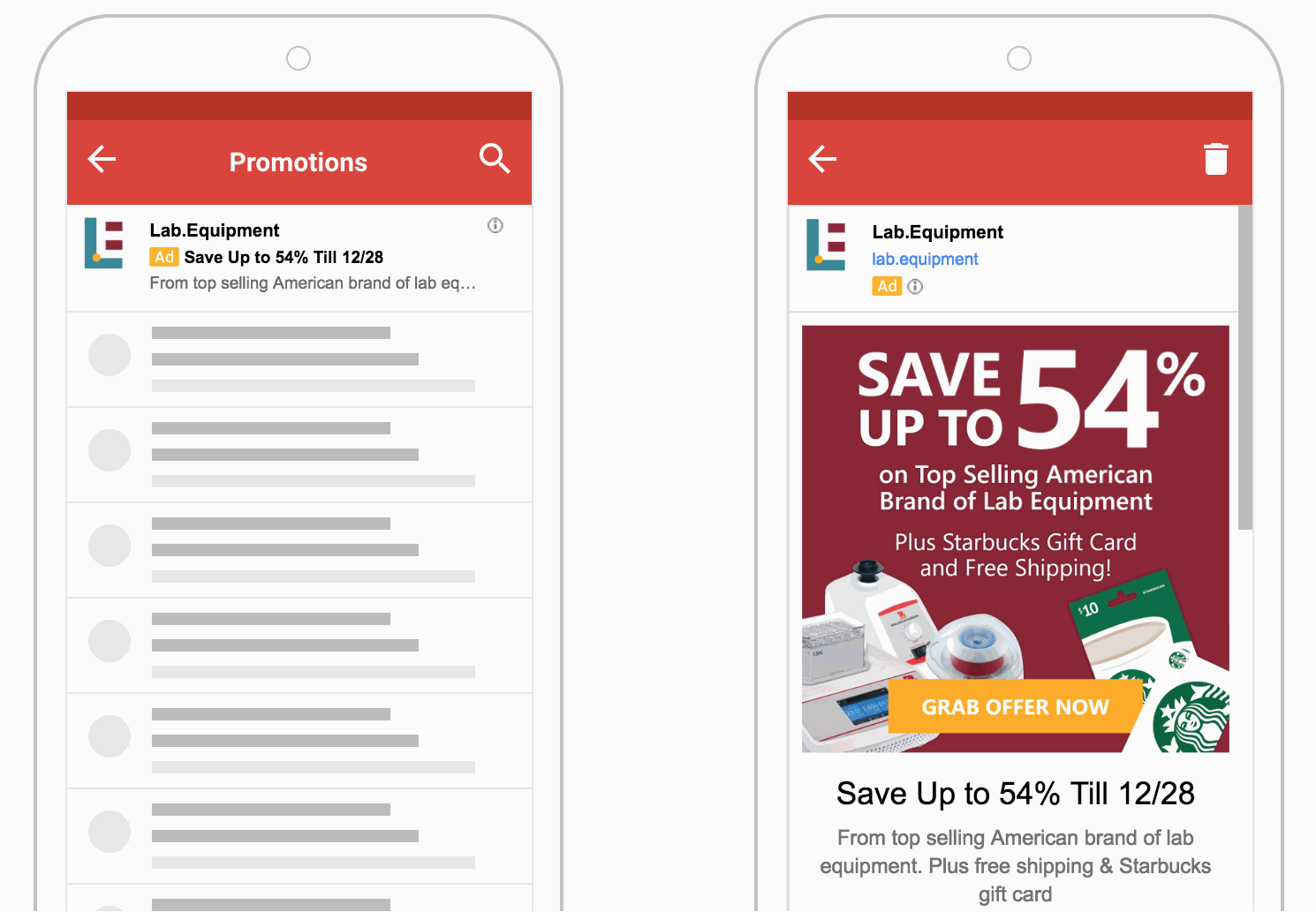 Ohaus Largest Markdown Promo Gmail Ads