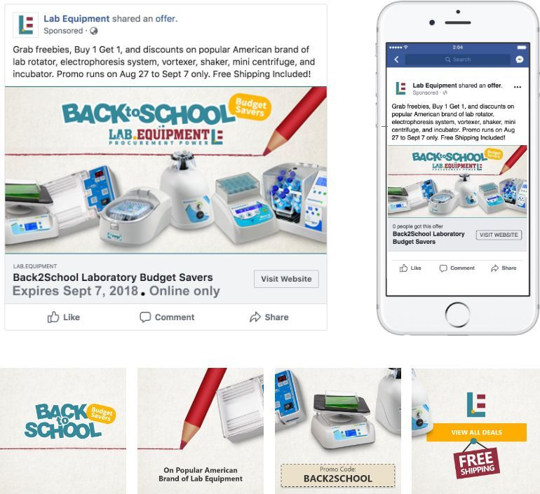 Back-to-School Budget Savers Promo Facebook Ads