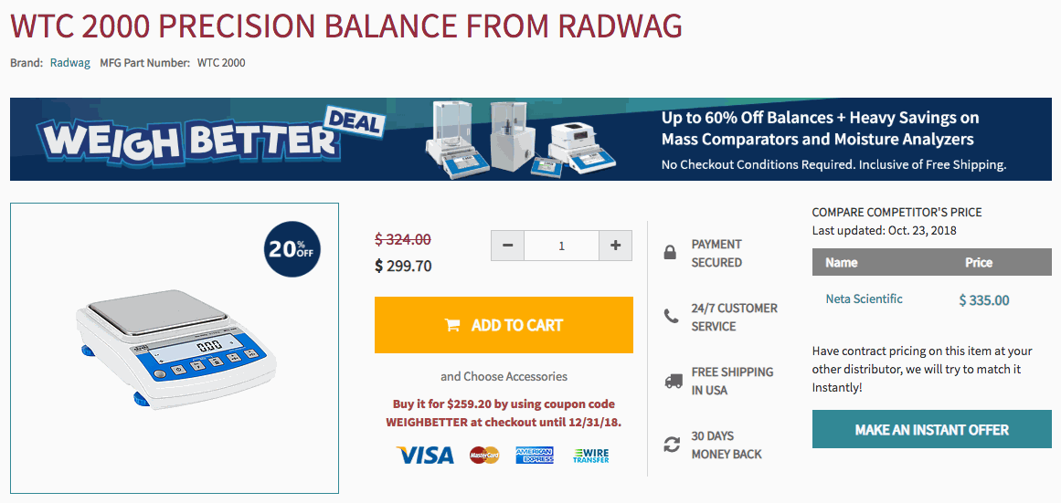 Radwag Weigh Better Promo Product Page Banner