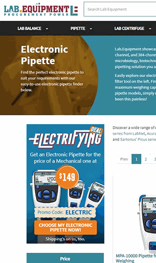 Electrifying MPA Pipettes Promo Sidebar Banner