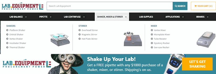Shake Up Your Lab Promo Mega Menu Banner