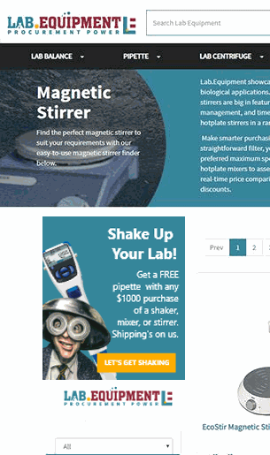 Shake Up Your Lab Promo Sidebar Banner
