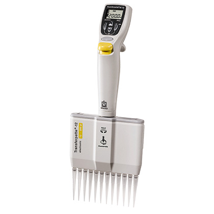 Transferpette Electronic 12-Channel 5 Pipette from Brandtech Image
