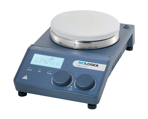 SCILOGEX SCI340-ProT MS-H-Circular LCD Digital Magnetic Hotplate Stirrer, ceramic plate, 110V, 50/60Hz, US Plug