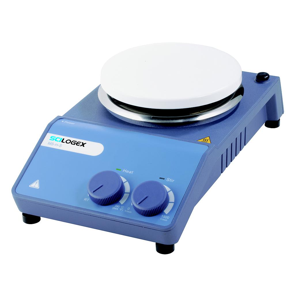 SCILOGEX SCI340-HS Analog Circular Magnetic Hotplate Stirrer, ceramic plate, 110V, 50/60Hz, US Plug Image