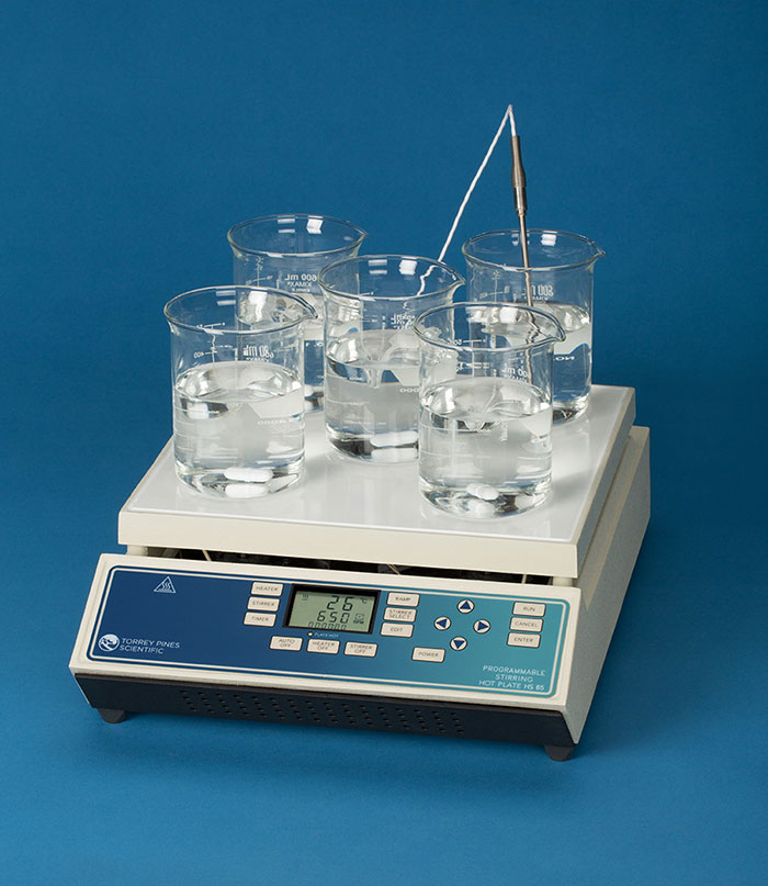 HS65 Fully Programmable Digital Stirring Hotplate 115V from Torrey Pines Scientific Image