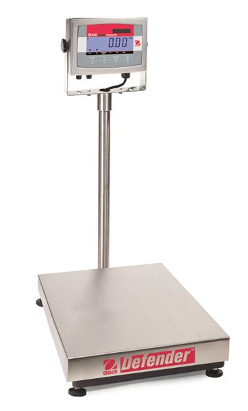 D32XW60VL Defender 3000 Stainless Steel Bench Scale from Ohaus