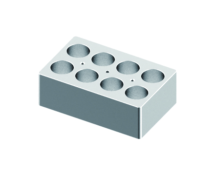 Block, used for 50mL tubes, 8 holes (15 x 9.5 x 5cm) from Scilogex