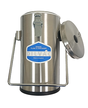 SS111 DILVAC 1L Stainless Steel Cased Dewar Flask from Scilogex