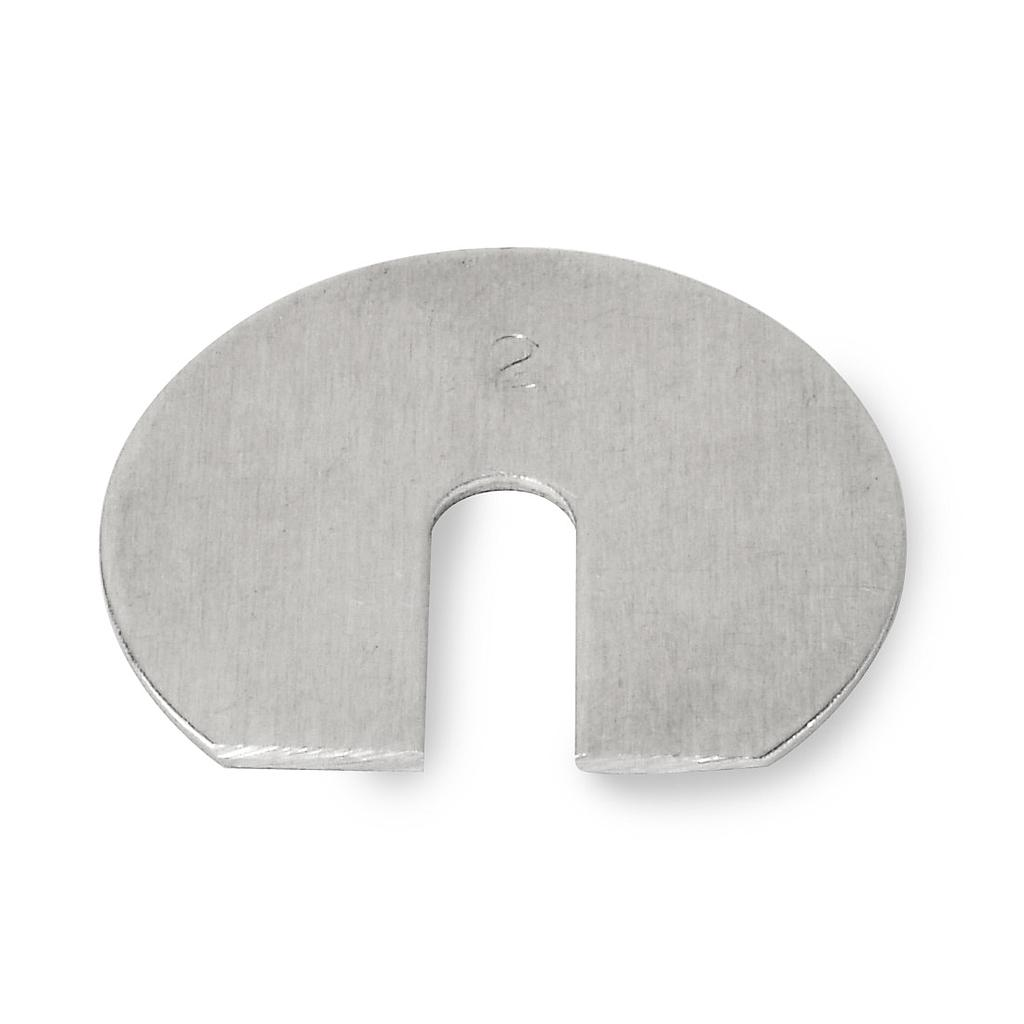 2 g Class 7 Economical Aluminum Slotted Weight from Troemner Image