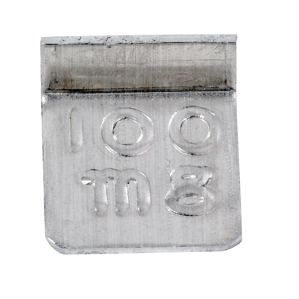 100 mg Class 7 Economical Stainless Steel Cylindrical Weight from Troemner Image